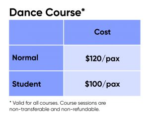 dance course fee