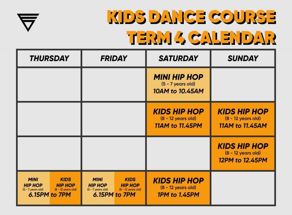 Kids Term 4 Schedule