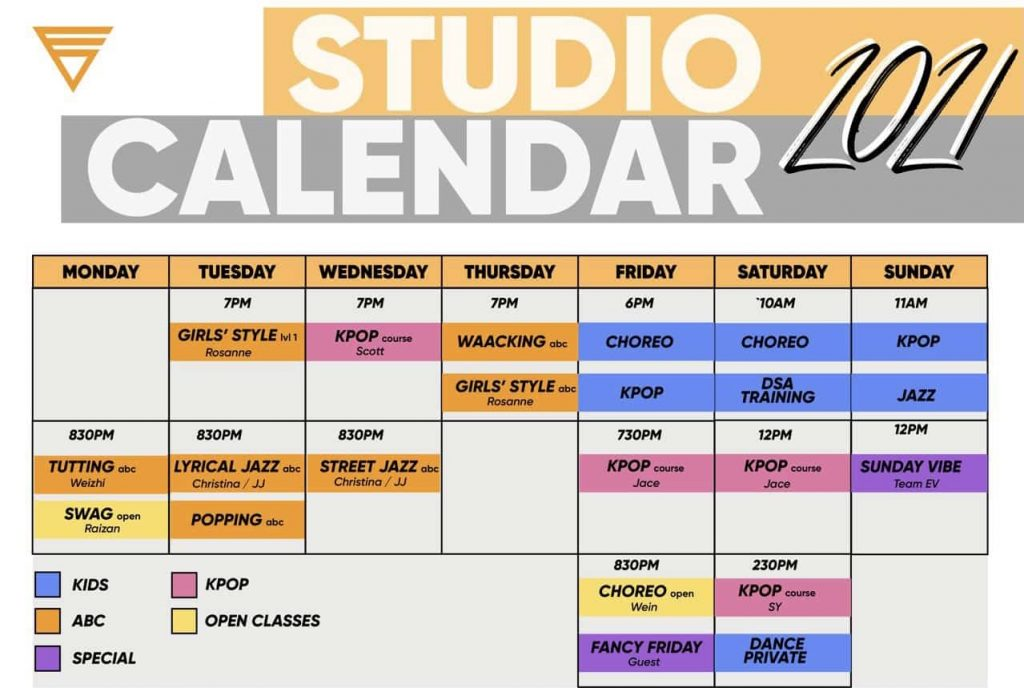 EV Studio calendar August 2021